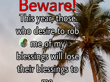 TODAY'S PRAYER: ROBBERS OF BLESSINGS, BEWARE