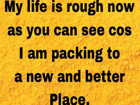 TODAY'S PRAYER: I AM PACKING!