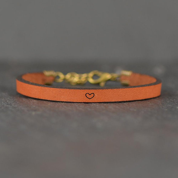 heart icon - Leather Bracelet