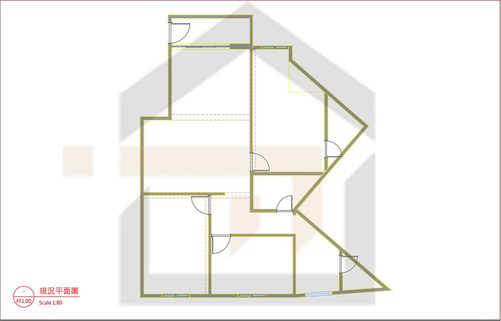 新店室內裝修-老公寓平面圖