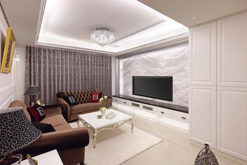 萬華室內設計-東園名邸-客廳2