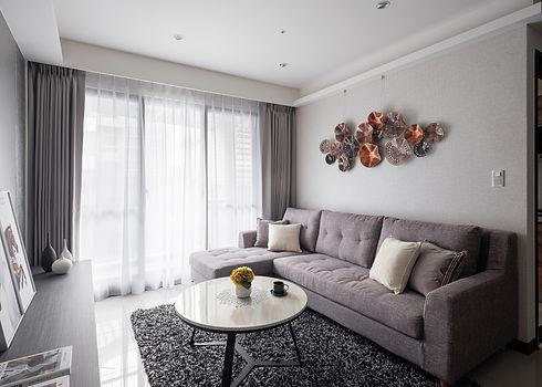 板橋室內設計-幸福新天地-客廳