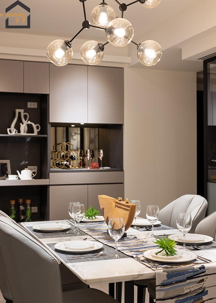 板橋室內裝潢-幸福新天地-飯廳