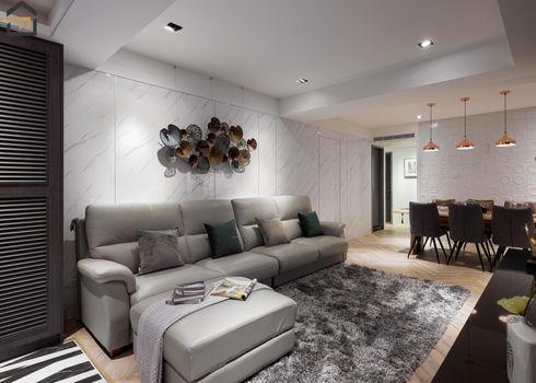 新店區室內裝潢-中興街公寓-客廳2
