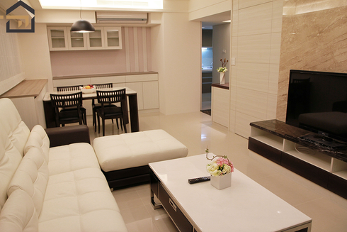 大安室內設計-公寓客廳-1