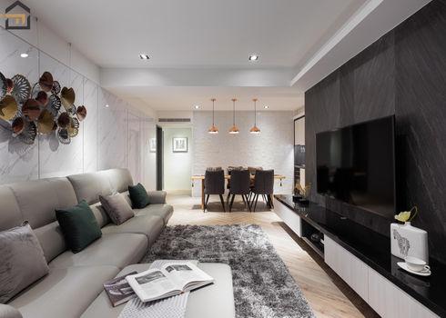 新店區室內裝潢-中興街公寓-客廳3