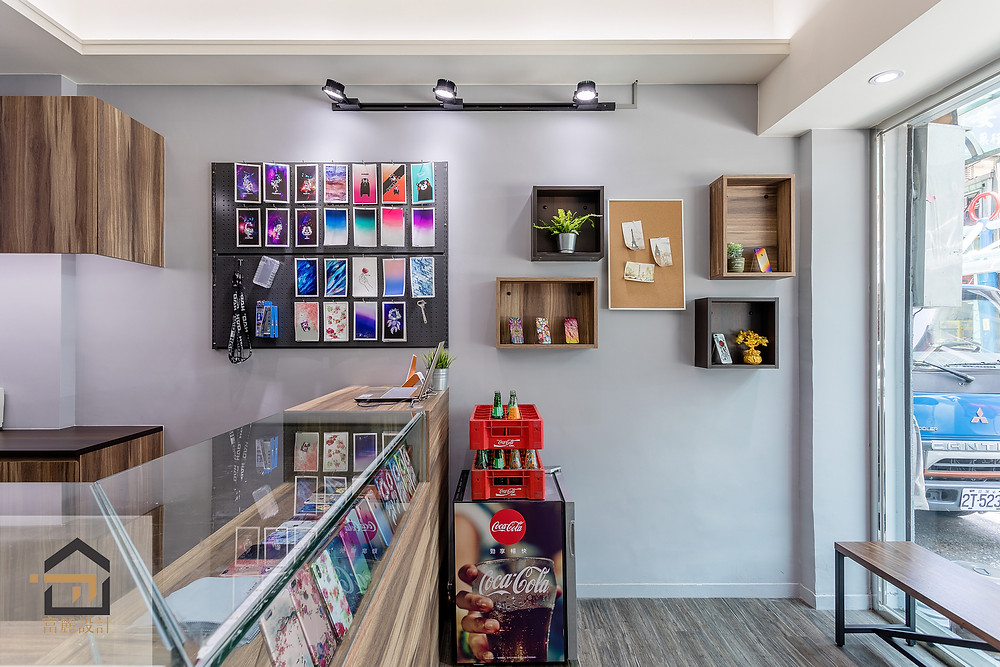 新店室內設計-小豪包膜新店店櫃台