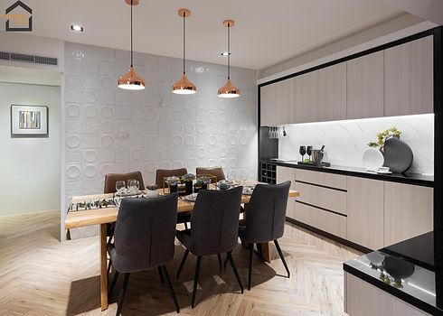 新店區室內裝潢-中興街公寓-飯廳