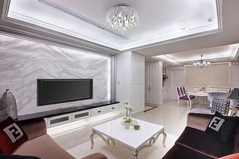 萬華室內設計-東園名邸-客廳