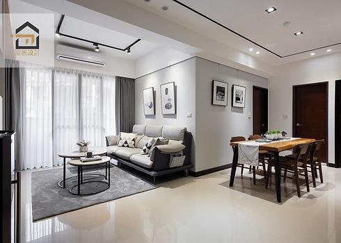 汐止室內設計-翠御-客廳2