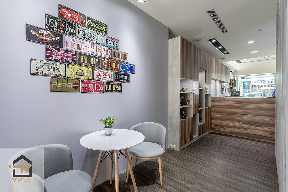 新店室內設計-小豪包膜新店店-等候區