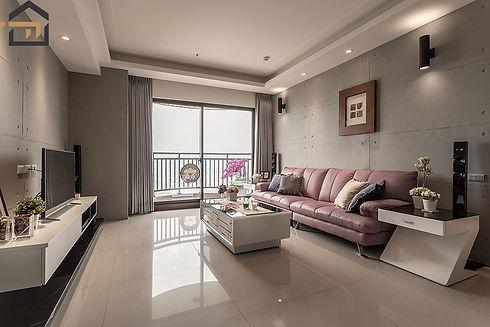 新莊室內設計-新莊福星-客廳1