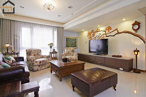 新莊室內設計-幸福空間-客廳2