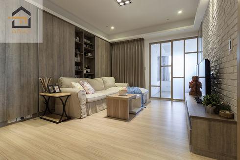 新店區公寓室內設計-玉上園-客廳