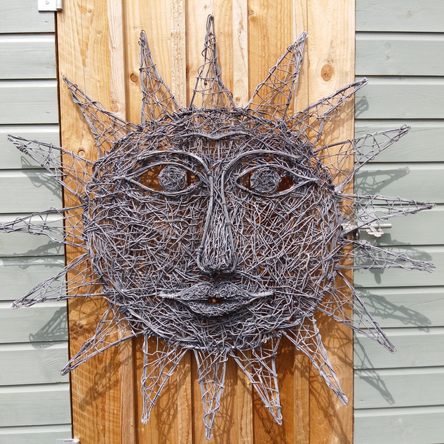 Large Wire Sun Sculpture