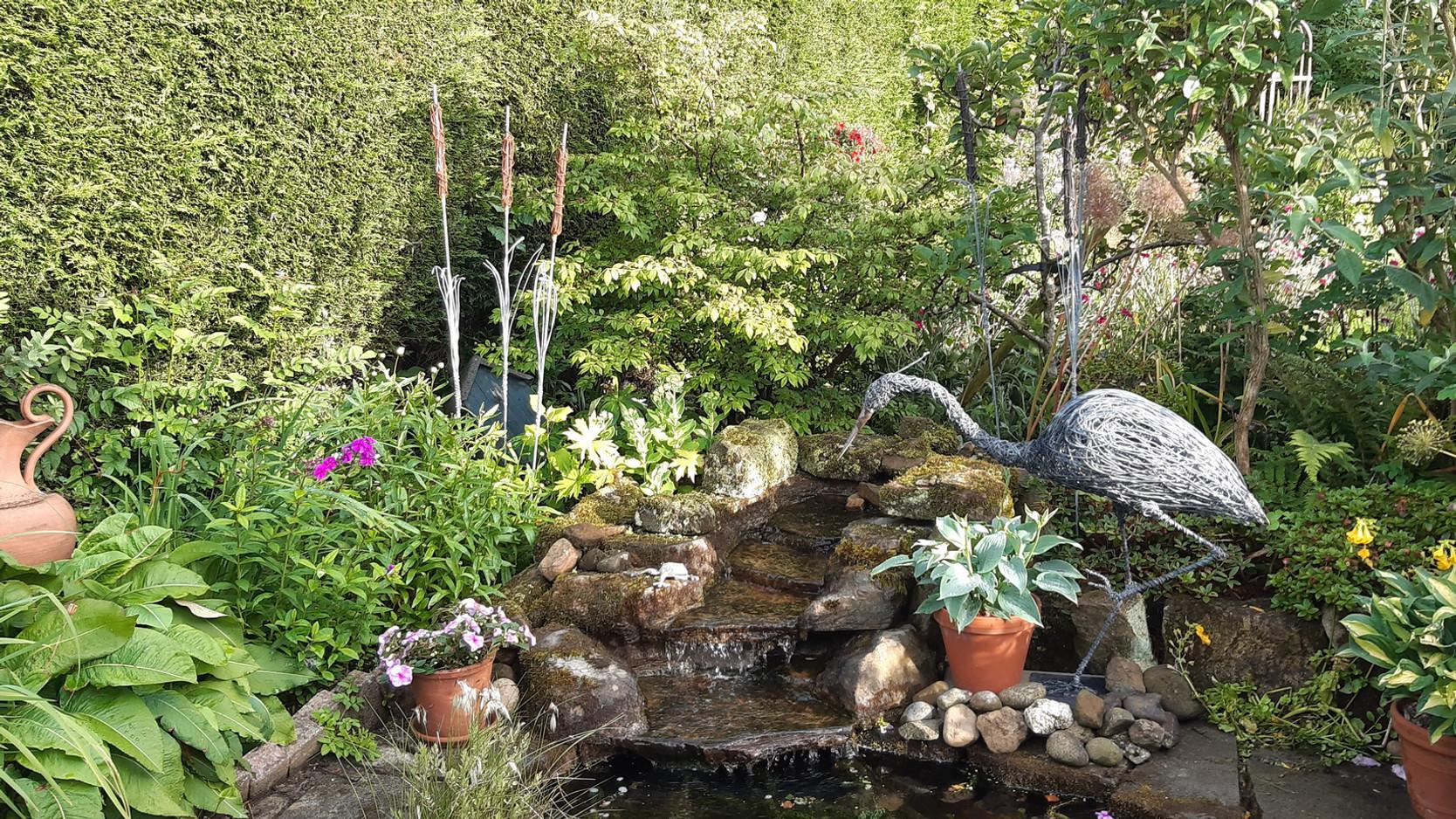 Customer pond and Heron