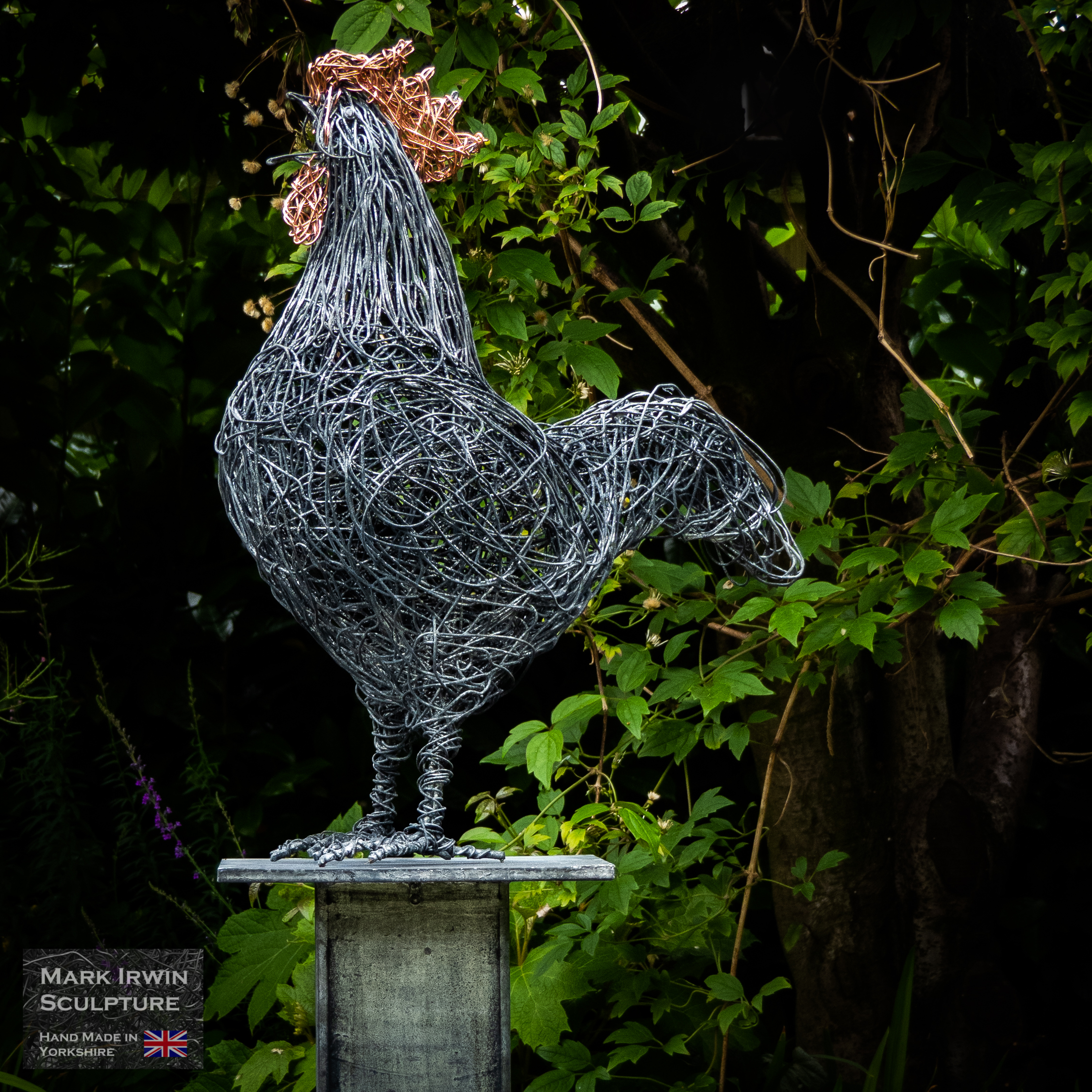 Large specimen cockerel sculpture
