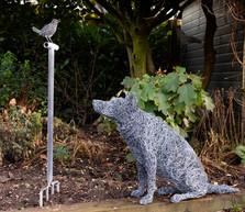 Australian Kelpie Dog wire sculpture