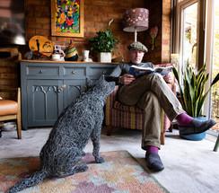 Kelpie dog wire sculpture