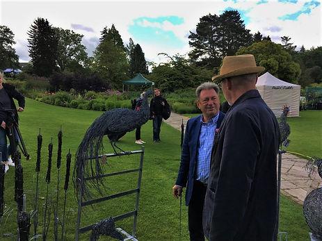 Alan Titchmarsh choosing a sculpture