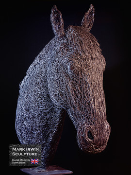 Horse bust 1.2x life size