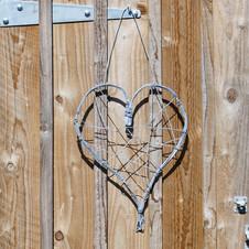 Wire heart galvanised