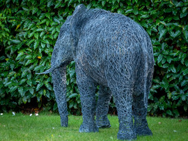 Wire elephant Sculpture
