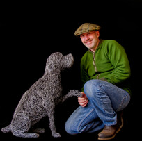 Mark Irwin Sculpture and wire dog