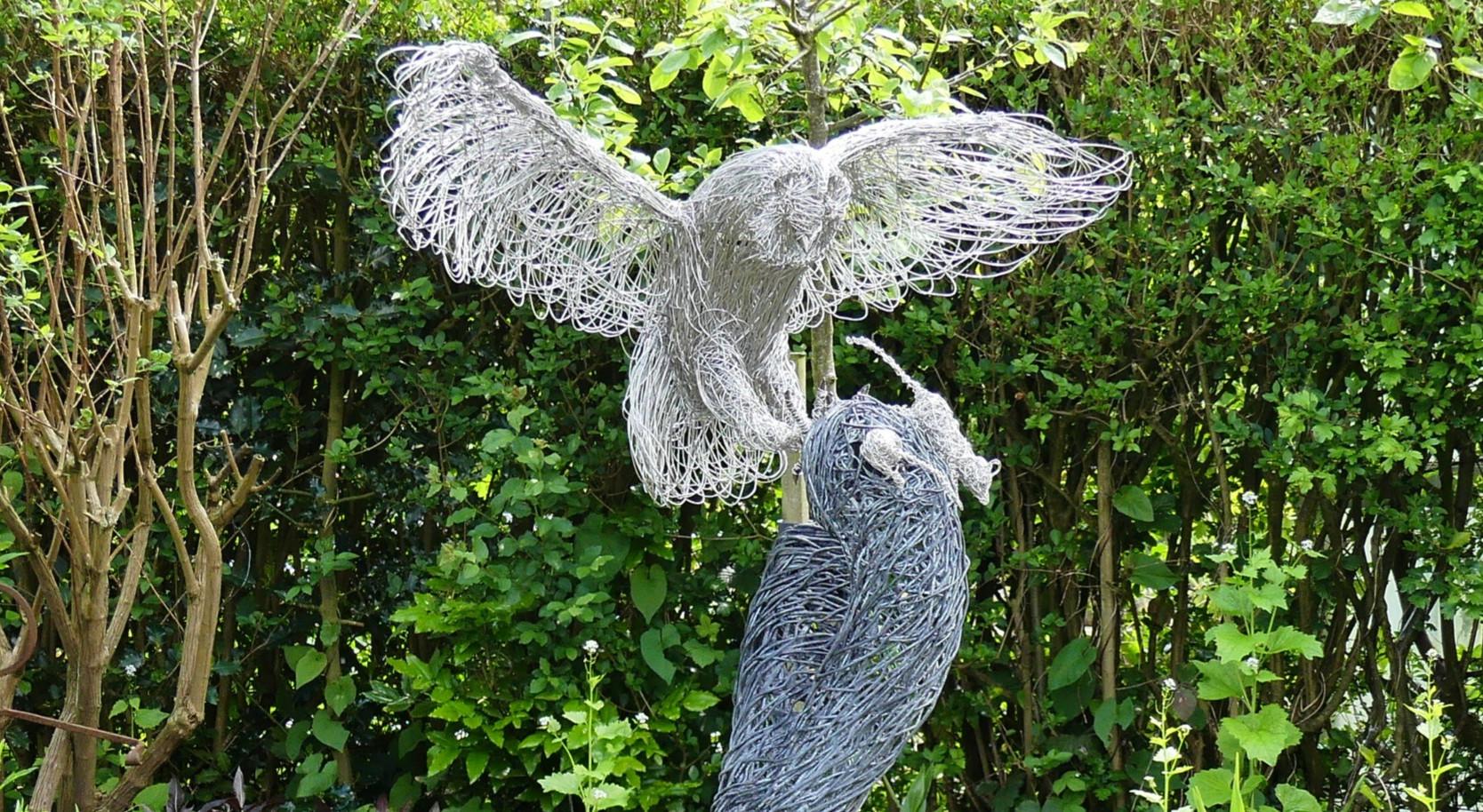 Owl Landing - stainless steel