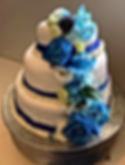 Wedding event cake at illium bistro inside of Pinehaven CC