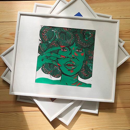 medusa // рисунок в рамке