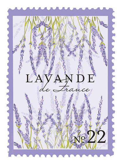22. Lavande de France:  lavanda fresca, hojas de violetas, flor de romero