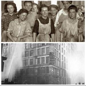 8 de Marzo 1908: 40.000 costureras industriales de grandes factorías se declararon en huelga. 129 de ellas fueron quemadas vivas por el patrón