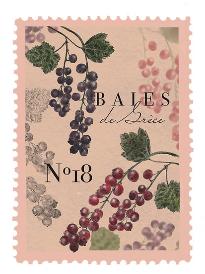 18.Baies de Grèce : Bayas, moras, naranja, pera dulce,musgo de roble y Bachú