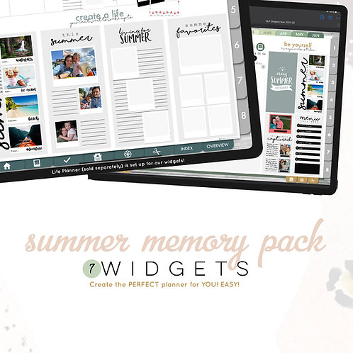 Summer Memory Widgets
