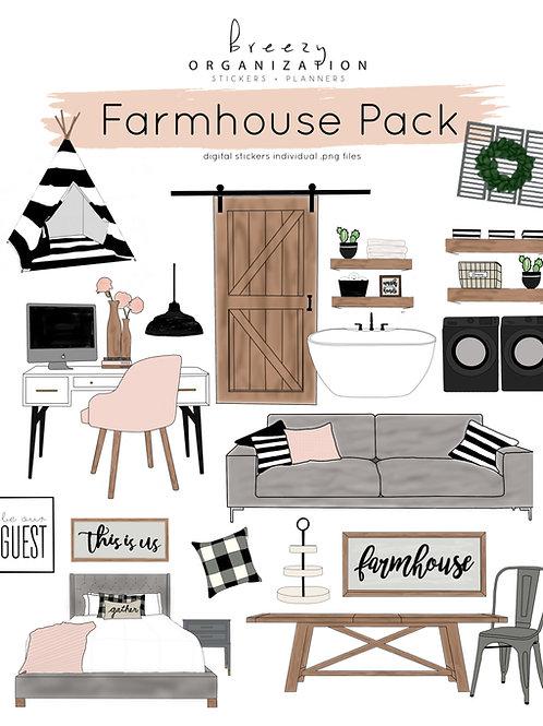 Farmhouse Digital Stickers