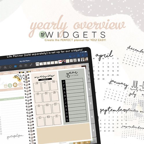 Yearly Overview Widgets