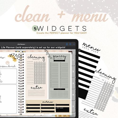 Clean + Menu Widgets