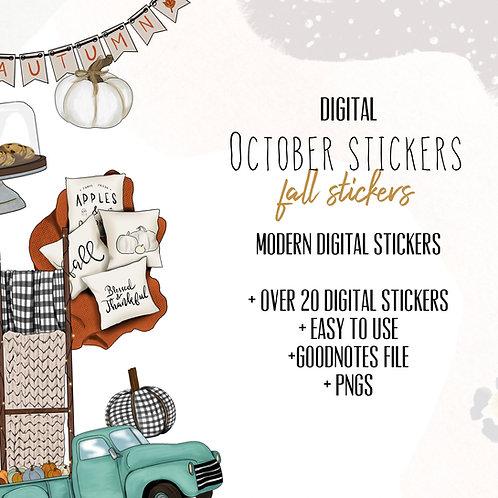 October Stickers