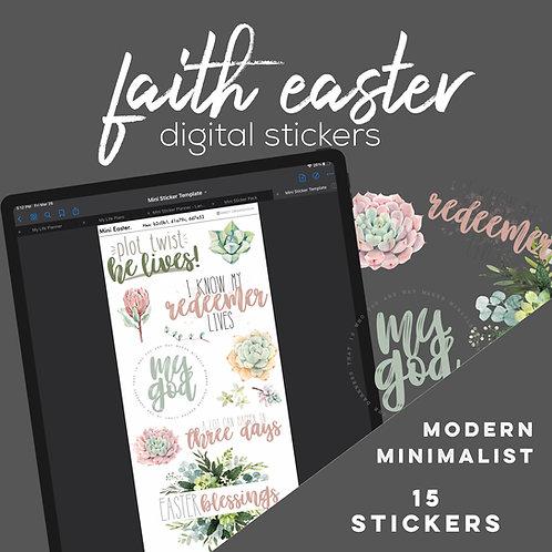 Easter Faith Digital Stickers