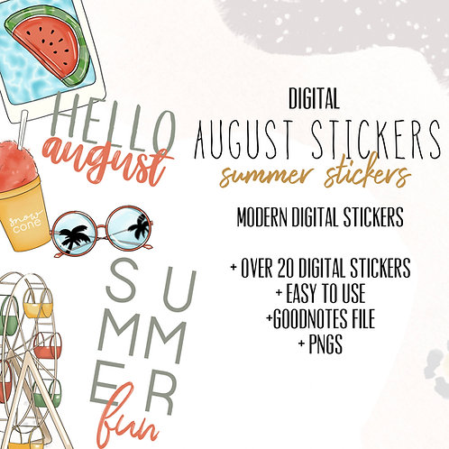 August Stickers