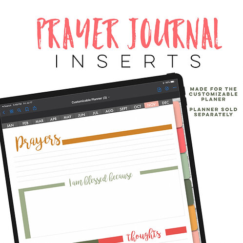 Prayer Journal Inserts