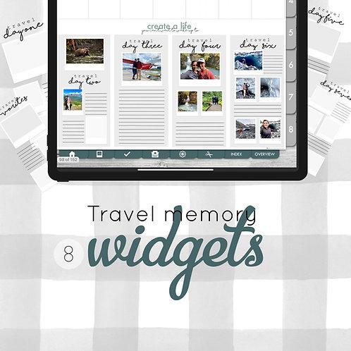 Travel Memory Widgets