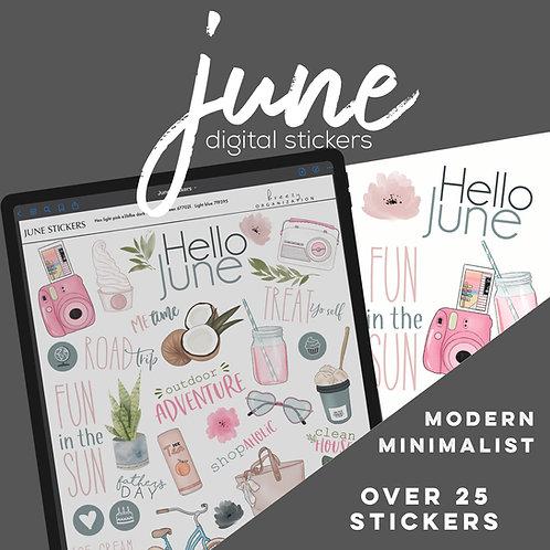 June Digital Stickers