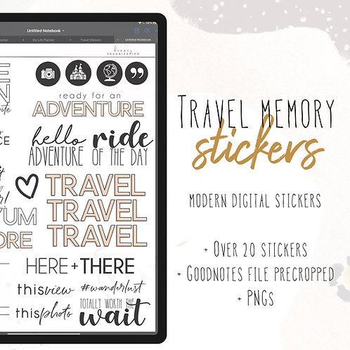 Travel Memory Stickers