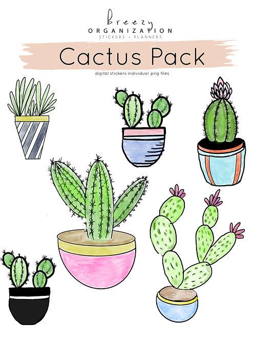 Cactus Digital Stickers