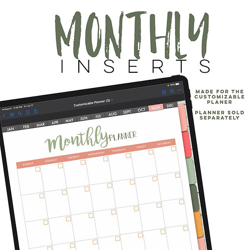 Monthly Inserts