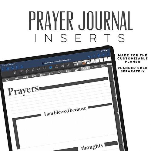 Masculine Prayer Journal Inserts