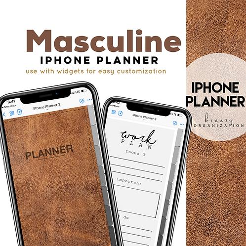 iPhone Digital Planner Masculine