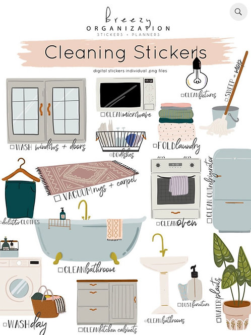 Digital Cleaning Stickers